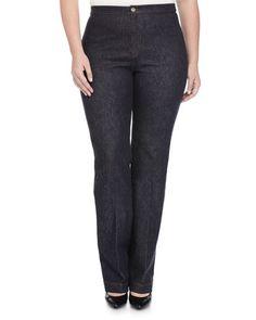Marina Rinaldi Igea Stretch Denim Pants (Neiman Marcus)