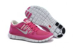 Nike Free 5.0+ Womens Bright Pink White Running Shoes