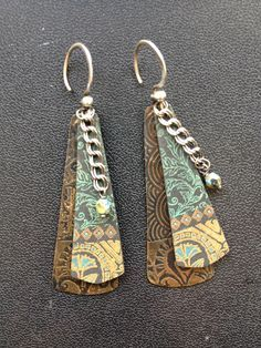 earrings by Kim Cavender.... and I like the cup, too! #polymer ...