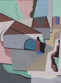 Georges Valmier (1885-1937) Le Village 1924 (25 x 19 cm)