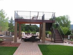 Image result for two story freestanding deck