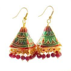 Multicolor Meenakari Earrings Earrings