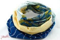 Patchwork-Loop-Schal aus der Lieblingsmanufaktur: Hochwertige Patchwork - Lieblingsstücke auf DaWanda.com