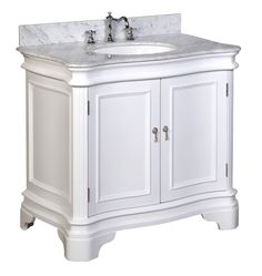 White Bathroom Vanity 36
