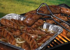 Get those grills going and grill up some Brats! The Johnsonville® Brat Hot Tub is the perfect solution for keeping brats warm and tasty at your backyard cookout, BBQ, or Tailgate! Grab some Beer, Butter, and Onions! - Johnsonville.com