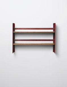 JEAN PROUVÉ Rare 'Cité' wall-mounted shelving unit, designed for the student rooms of the Cité Universitaire, Nancy, 1930-1932