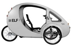 "Described as the ""most efficient vehicle on the planet"", The ELF is a solar and pedal-powered hybrid tricycle hand-built in the United States by Organic Transit. It is available in"