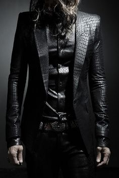 Image of Slim Fit Faux Leather Snakeskin Blazer Läder Herr 6e54832083d6b