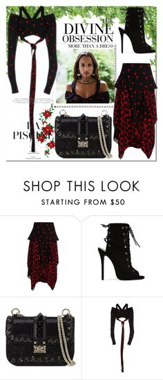 """""""Edgy Christmas in Proenza Schouler..."""" by nfabjoy ❤ liked on Polyvore featuring Proenza Schouler, Public Desire, Vera Wang and Valentino"""