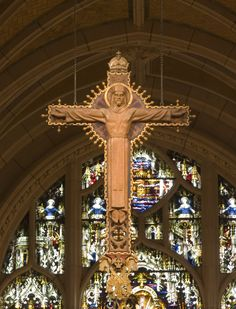 Cathedral of St. John the Divine - New York City, New York - Great Cross - 'Christ Triumphant' by Auken Chapin