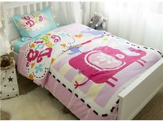 Cartoon Elephant Printed Cotton 3-Piece Duvet Covers/Bedding Sets