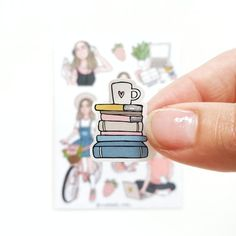 Girls Holidays stickers Sticker sheet size: Stickers of paper, of excellent quality. This is what you need for planning. Homemade Stickers, Diy Stickers, Laptop Stickers, Journal Stickers, Planner Stickers, Sticker Shop, Sticker Design, To Do Planner, Magazine Collage