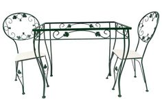 Iron Garden Table & 2 Chairs