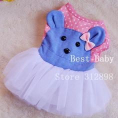 Cheap Clothing Dresses Dog Rose Dots Bear Wedding Party Summer Spring Pet Puppy Animal Apparel Skirt For Chihuahua Yorkie Poodle Pet Puppy, Pet Dogs, Dog Cat, Yorkie Poodle, Chihuahua, Pet Fashion, Animal Fashion, Teach Dog Tricks, Bear Wedding