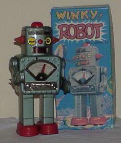 Winky Robot toy Vintage Robots, Retro Robot, Retro Toys, Vintage Toys, Retro Vintage, Robby The Robot, Domo Arigato, Monster Toys, Space Toys
