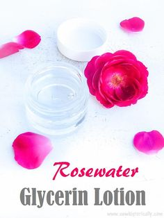 homemade face lotion Make a simple homemade lotion with just 2 ingredients: rosewater & glycerin. Rosewater & glycerin lotion has been popular since the Victorian era. Homemade Face Lotion, Homemade Face Wash, Homemade Deodorant, Rose Water Glycerin, Glycerin For Hair, Fresh Rose Petals, Diy Body Butter, Hair Lotion, Lotion Recipe