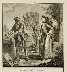 A Most Beguiling Accomplishment: Les Costumes François, Plate 8 18th Century Dress, 18th Century Costume, 18th Century Clothing, 18th Century Fashion, Cadre Diy, Golden Age Of Piracy, Working Woman, Women In History, Historical Clothing