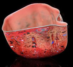 Dale CHIHULY Original Glass Sculpture Signed Macchia Authentic Art Hand Blown