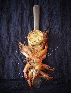 Grilled Prawns with Lemon
