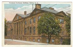 Provincial Buildings Halifax Nova Scotia PC 1923 Martin'S Point Split Ring Canc | eBay