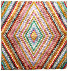Hexagons into diamond quilt 1970