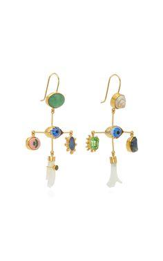 6d09c3dd5 Grainne Morton Vintage Eye Cross Drop Aventurine Earrings Antique Glass,  Mother Pearl, Vintage Shops