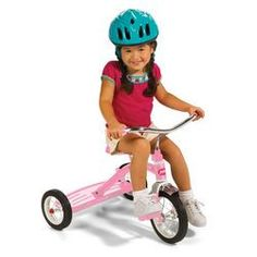 Radio Flyer Classic Pink 10 inch Trike With Handle - $139