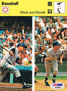 Roger Maris Whitey Ford Signed Autographed PSA DNA 5x6 Card Yankees E37862 | eBay #rogermaris #maris #whiteyford #ford #signedcard #autograph #yankees