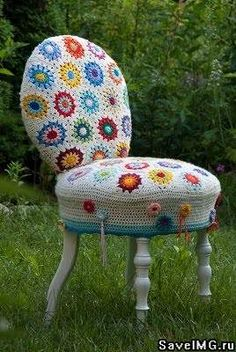 crochet chair - wonder how long before I'm able to do this?