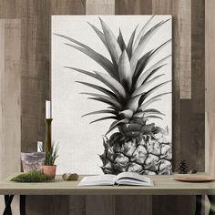 Black & White Pineapple Canvas Art (Assorted Sizes)