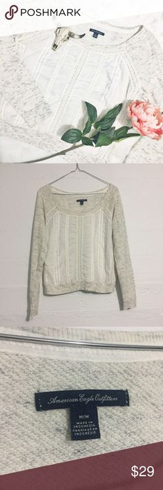 AEO Longsleeve Cropped Sweatshirt American Eagle Cropped Sweatshirt is the epitome of casual cool. Pair with jeans fir ultimate comfort. Open to offers. No trades. American Eagle Outfitters Tops Sweatshirts & Hoodies