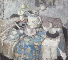 ANNE REDPATH (1895-1965) - Pink and Grey Still Life 1942 Oil on board | 32 x 36 inches