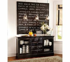 Cute quote/buffet design for a kitchen!