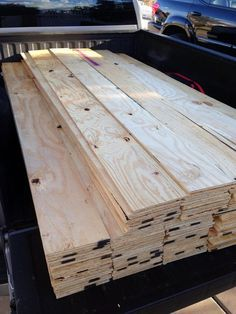 Cut down a few sheets of plywood and use them for the horizontal planked walls, or on the floor.......d.