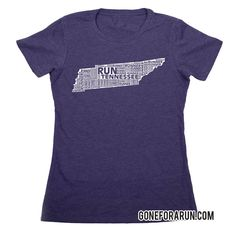 State runner everyday tees exclusively from GoneForaRun.com Tennessee Runner