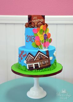 Up and Away Graduation Cake by Beverly's Best Bakery