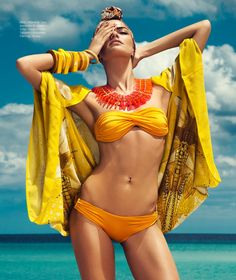 DannyCardozo BarbaraFialho HB July2013 07 Barbara Fialho Models Beach Style for Harpers Bazaar Mexico by Danny Cardozo