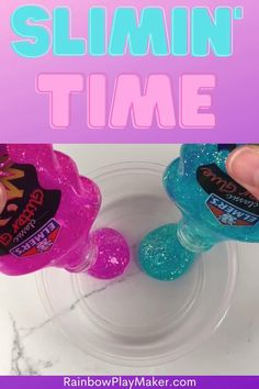 It is time for slime!  Learn how to make all the best slime.  Secret tips and tricks from a pro slimer!  My easy recipes will have you slimin' in no time! #slime #slimerecipe #slimetutorial #easyslime #slimediy |rainbowplaymaker.com Diy Crafts Hacks, Fun Crafts, Crafts For Kids, Diy Projects, Best Fluffy Slime Recipe, Easy Slime Recipe, Cool Slime Recipes, Easy Recipes, Easy Meals
