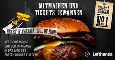 Richie'n Rose und Lufthansa verlosen in den nächsten vier Monaten 4 x 2 Tickets (jeden Monat 2 Tickets: Gewinner + Begleitperson)  von Düsseldorf nonstop nach New York und natürlich zurück.  #richienrose #bestburgers #lufthansa