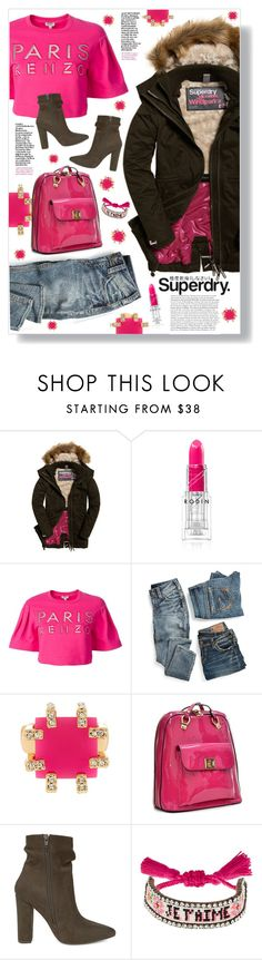 """The Cover Up – Jackets by Superdry: Contest Entry"" by mmk2k ❤ liked on Polyvore featuring Rodin, Superdry, Kenzo, maurices, Trina Turk, Dasein, Steve Madden, Shourouk and MySuperdry"