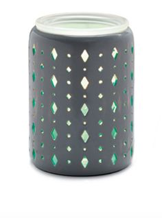 "One of my personal favourites! The Beacon Warmer! ""Subtle hints of aqua glowing through modern matte gray lend depth and unexpected color to this modern, versatile piece."" Direct URL: https://lilyrichman.scentsy.ca/shop/p/39230/beacon-scentsy-warmer"