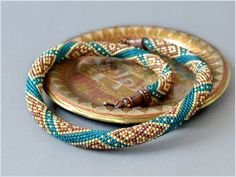 Bead Crochet Necklace Thoughts about India by Chudibeads on Etsy