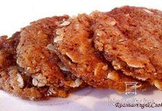Narancsos-mézes zabpelyhes keksz Apple Muffins, Granola, Biscotti, Apple Pie, French Toast, Oatmeal, Pork, Gluten Free, Healthy Recipes