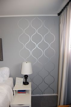 2.50 silver craft paint stencil - stencil a small area - i can do that!  (bathroom, bedroom, hall)