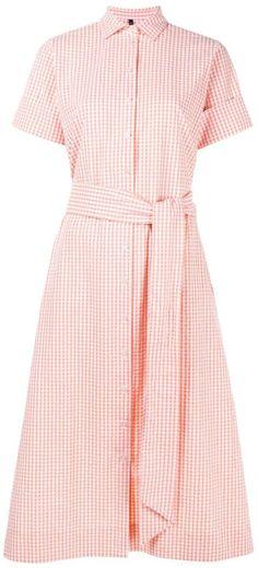 Lisa Marie Fernandez Check Cotton Shirt Dress