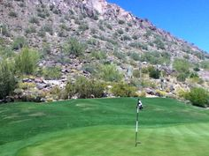 Phoenician Golf Course - golf in the foothills of Camelback Mountain.  You can't beat the landscape and views.  Some pretty amazing elevated tee shots, too!