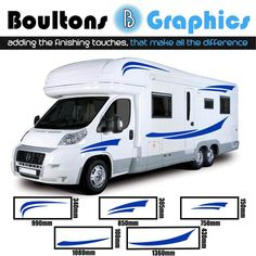 897df9d6c0c63a MOTORHOME STRIPE KIT - Camper Van Decals - Horsebox Graphics - Caravan  Stickers - SS1