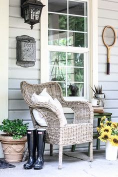 Fall Patio Decor by