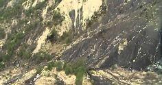 Germanwings plane crash site in aerial video