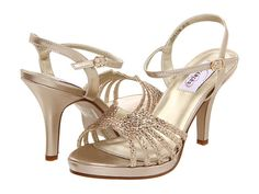 How about this sandals for you Emily? Dyeables Leah Champagne Glitter - Zappos.com Free Shipping BOTH Ways